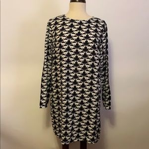 H&M Black & White Cat Print Dress